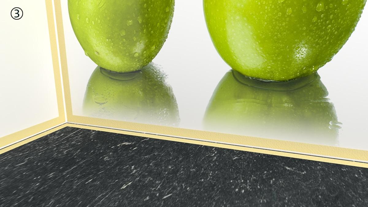 3 Keukenprint aanrecht tape aanbrengen