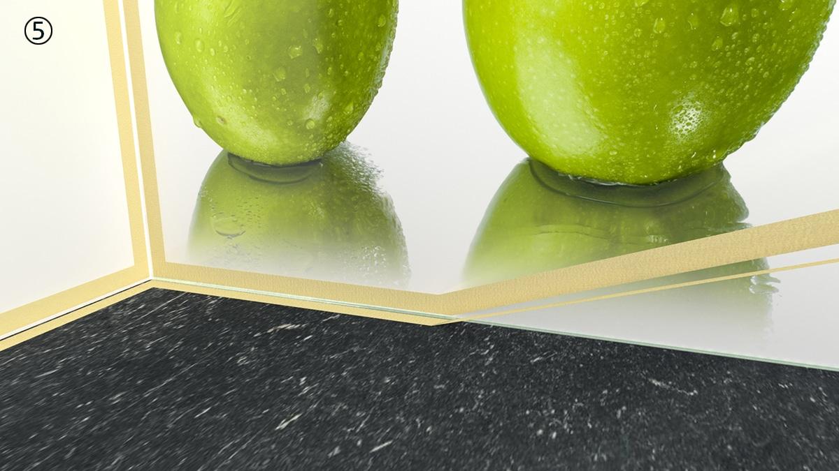5 Keukenprint aanrecht tape weghalen