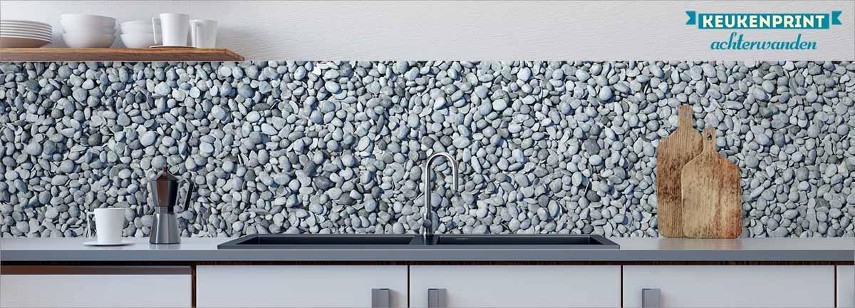 blue-pebbles-keukenprint