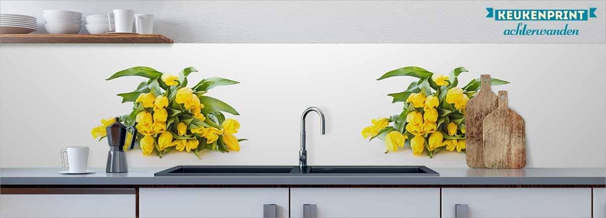 gele_tulpen_Keukenprint