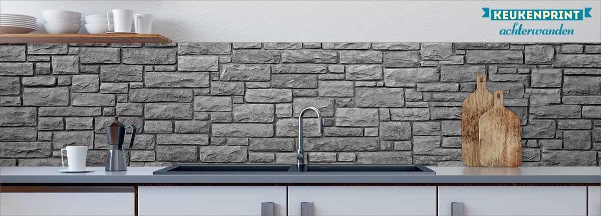 grey-stone-wall-keukenprint