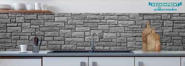 grey-stone-wall-keukenprint