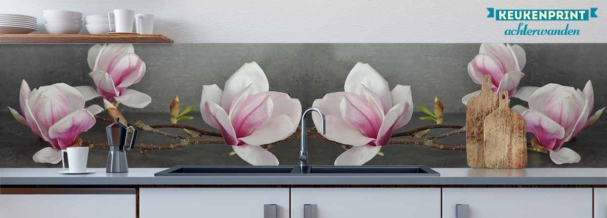 magnolia_Keukenprint