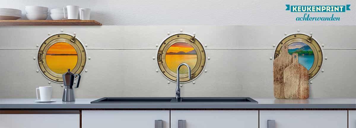 met_uitzicht_op_zee_Keukenprint