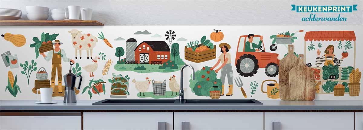 op_de_boerderij_Keukenprint