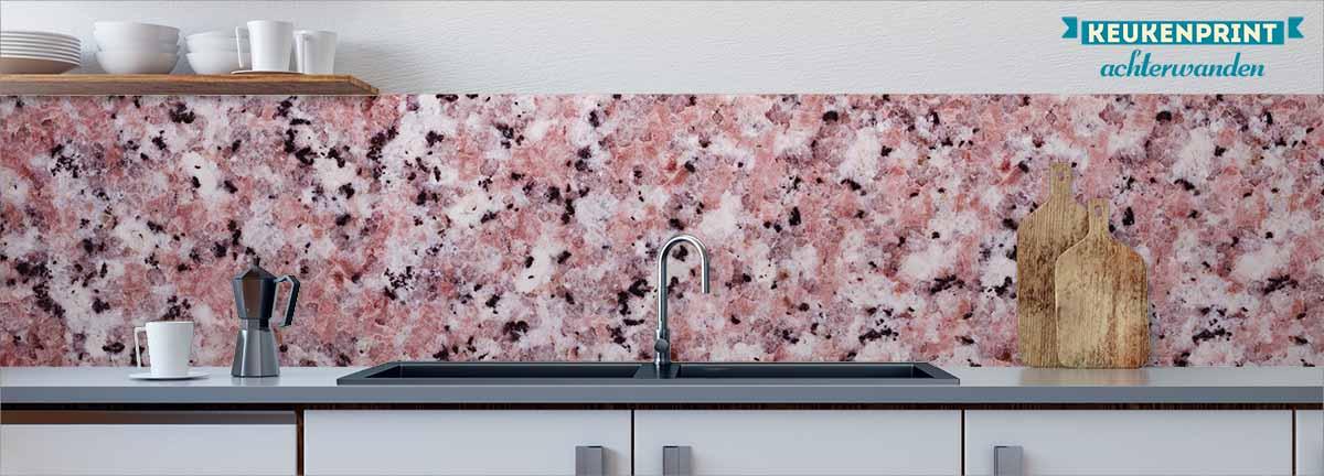roze-marmer-keukenprint