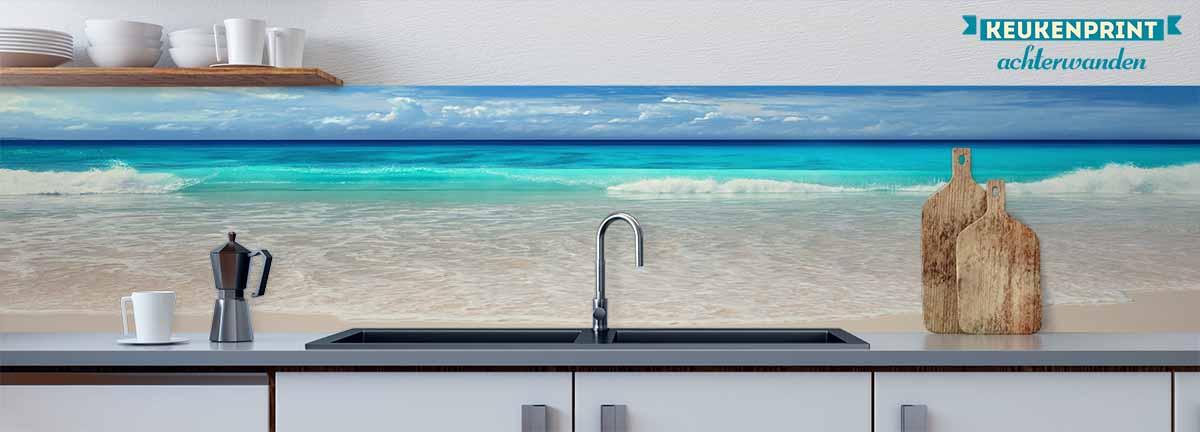 zeezicht_Keukenprint